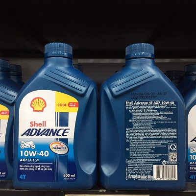 Shell Advance 4T AX7 10W40 Synthetic Based 0.8L