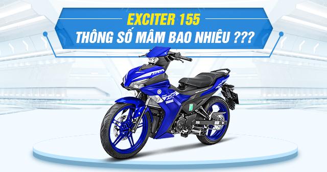 Thông số mâm zin Exciter 155 là bao nhiêu?