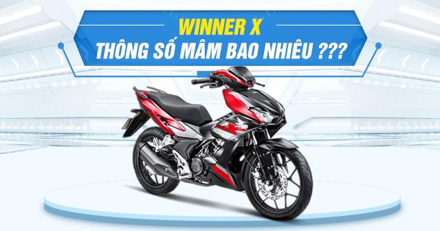 Thông số mâm zin Winner X là bao nhiêu?