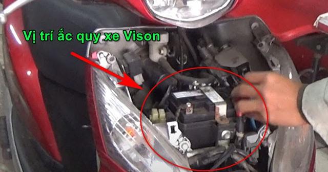 Xe tay ga Vision để lâu ngày không khởi động được phải làm sao?
