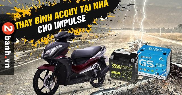 Xe Suzuki Impluse để lâu ngày không đề máy được có phải hư bình ắc quy?